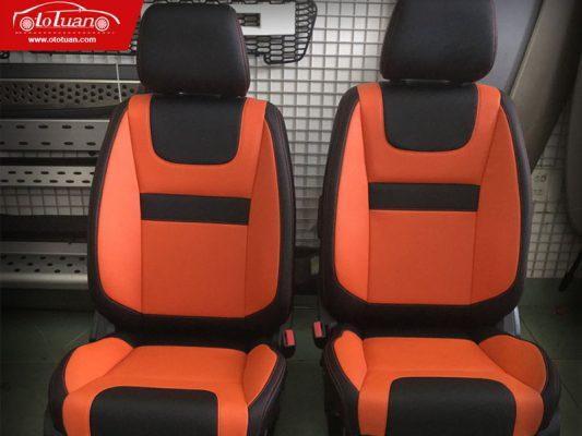 ghế da ô tô cam đen