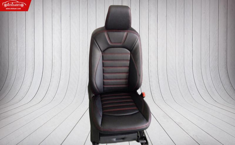 bọc ghế da đen chỉ đỏ