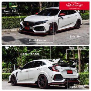 body kit xe honda civic 2017 2018 mẫu mới