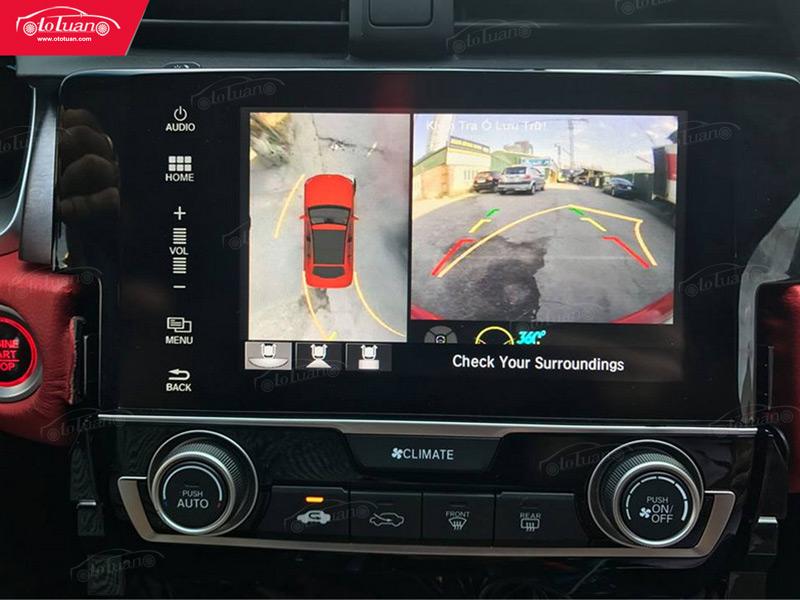 màn hình chính camera 360 độ cho ô tô