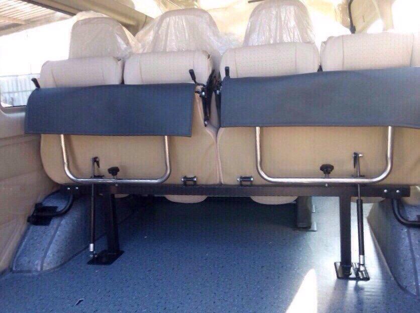 độ gập ghế sau cho xe ford transit