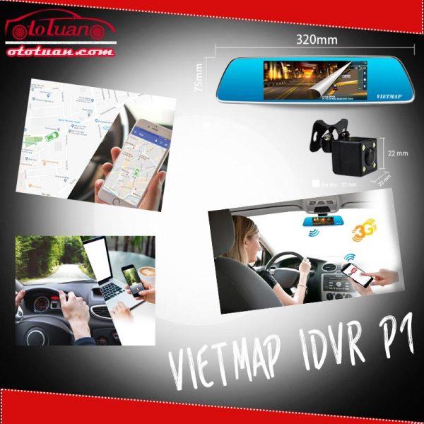 Camera hành trình gương giám sát trực tuyến Vietmap iDVR P1