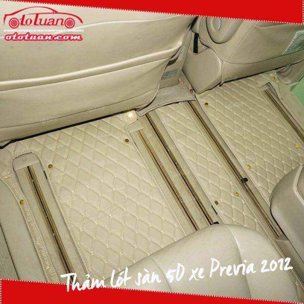Thảm lót sàn 5D xe Previa 2012