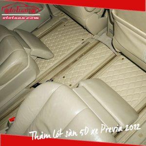 Thảm lót sàn 5D xe Previa 2018