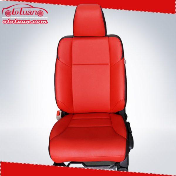 Bọc ghế da xe Honda CRV 2015 màu đỏ